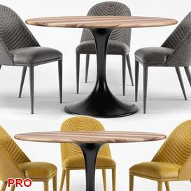 Amarelo Chair 2014 Dining  Table Set 30 3d model Download  Buy 3dbrute