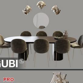 GubiSet Dining  Table Set 38 3d model Download  Buy 3dbrute