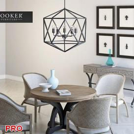 HOOKER Dining  Table Set 51 3d model Download  Buy 3dbrute