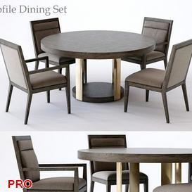 Dining  Table Set 62 3d model Download  Buy 3dbrute