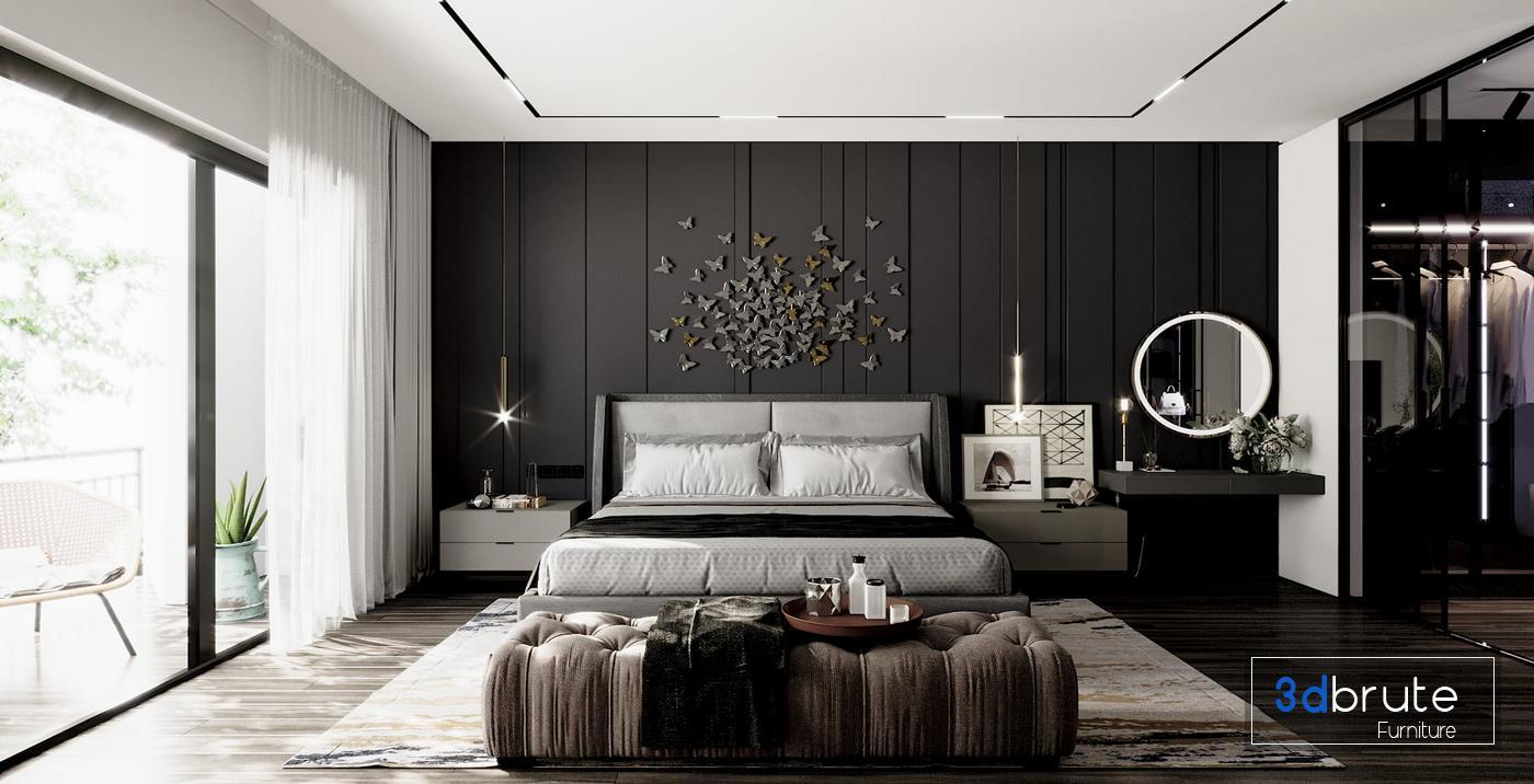 Bedroom Master Corona Render Download 3d Models Free 3dbrute