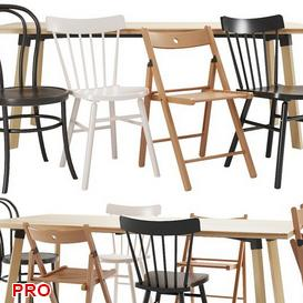 IKEA Dining Set 52 3d model Download  Buy 3dbrute