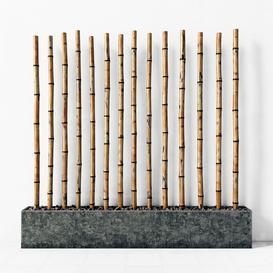 Bamboo decor fundament concrete 3d model Download  Buy 3dbrute