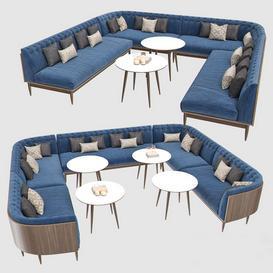 Banquet Seating 001 3d model Download  Buy 3dbrute