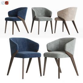 Bross Nora Dining Chair 1530 Armchair 3d model Download  Buy 3dbrute