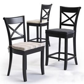 C B Vintner Bar and Dinning Chair 3d model Download  Buy 3dbrute