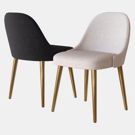 Chair Mid Century West Elm 3d model Download  Buy 3dbrute