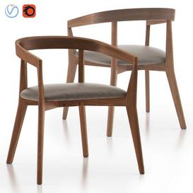 Cullen Shiitake Round Back Dining Chair 3d model Download  Buy 3dbrute