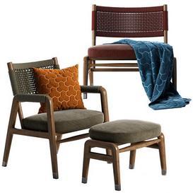 Flexform Ortigia armchair 3d model Download  Buy 3dbrute