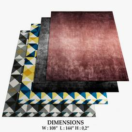 GIOPAGANI and GAN Rugs 489 3d model Download  Buy 3dbrute