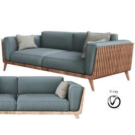 Hamper Sofa by Fontanelle 3d model Download  Buy 3dbrute