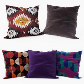 IKEA   Decorative Pillows set 15 3d model Download  Buy 3dbrute