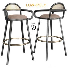 LUC Bar Chair 3d model Download  Buy 3dbrute