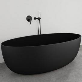 Lusso Stone VETRINA Black Bathtub 3d model Download  Buy 3dbrute