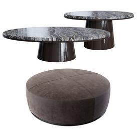 Meridiani Low Tables And Brons 3d model Download  Buy 3dbrute