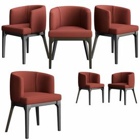 Oliver chair from West Elm 3d model Download  Buy 3dbrute