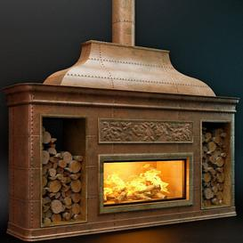 Ð¡opper fireplace 3d model Download  Buy 3dbrute