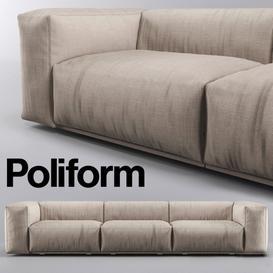 Poliform Bolton Sofa 3d model Download  Buy 3dbrute