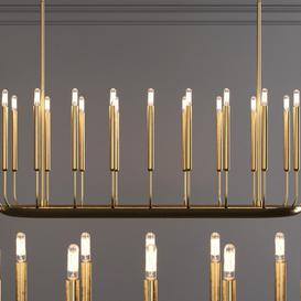 Restoration Hardware QUENOUILLES LINEAR CHANDELIER 50 Brass 3d model Download  Buy 3dbrute