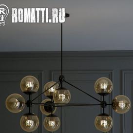 ROMATTI ROLL and HILL Modo Chandelier By Jason Miller 10 3d model Download  Buy 3dbrute