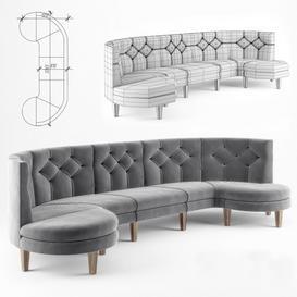 Sofa MANON 3 seat v 0 3d model Download  Buy 3dbrute