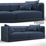 Fendi Casa Conrad Maxi Sofa Blue 3d model Download  Buy 3dbrute