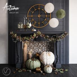 Autumn Decor Set 3d model Download  Buy 3dbrute