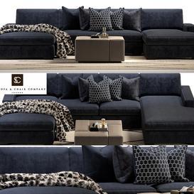 Brancusi corner sofa and Matisse ottoman 3d model Download  Buy 3dbrute