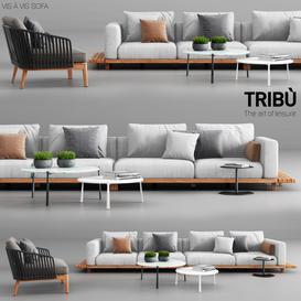 Tribu Vis a Vis Sofa and Mood Club Chair 3d model Download  Buy 3dbrute