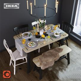 kitchen   dining room table 3d model Download  Buy 3dbrute