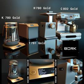 Kitchen set BORK gold 3d model Download  Buy 3dbrute