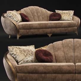 Sofa GoldConfort Paradise 3d model Download  Buy 3dbrute