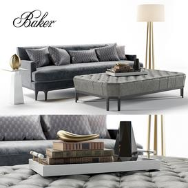 Baker Celestite Sofa 3d model Download  Buy 3dbrute