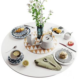 Set of dishes in Scandinavian style 3d model Download  Buy 3dbrute