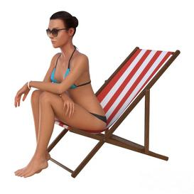 The girl in the beach chair 3d model Download  Buy 3dbrute