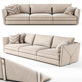Visionnaire Bastian 3 seater sofa 02 3d model Download  Buy 3dbrute