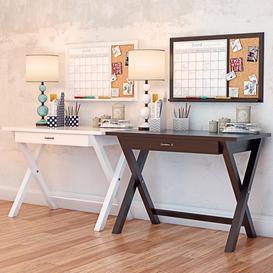 X Frame Desk PBTEEN LT 3d model Download  Buy 3dbrute