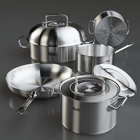 Cookware set Fissler Original Pro LT 3d model Download  Buy 3dbrute