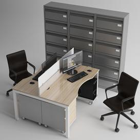 Office Furniture 3d model Download  Buy 3dbrute