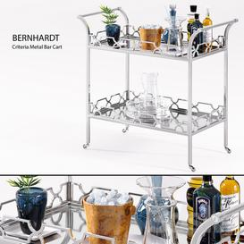 Bernhardt   Criteria Metal Bar Cart LT 3d model Download  Buy 3dbrute
