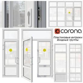 Plastic stained glass  window  door LT 3d model Download  Buy 3dbrute