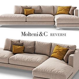 Molteni   C reversi sofa 4 3d model Download  Buy 3dbrute