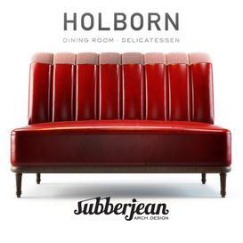 Holborn Dining Lounge Sofa 3d model Download  Buy 3dbrute