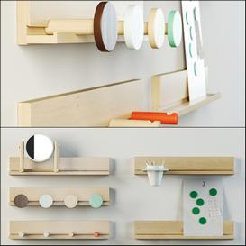 IKEA PS 2014 Wall rails 3d model Download  Buy 3dbrute
