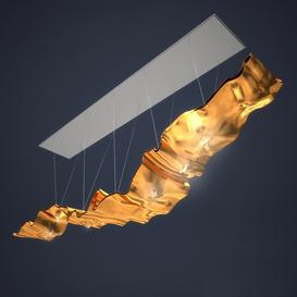 Ingo Maurer Golden Ribbon 3d model Download  Buy 3dbrute