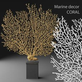 Marine decor CORAL 3d model Download  Buy 3dbrute