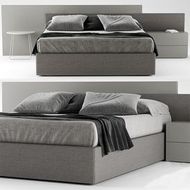 NOVAMOBILI TIME BED 3d model Download  Buy 3dbrute