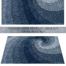 nuLOOM Contemporary Abstract Swirl Blue Rug 3d model Download  Buy 3dbrute