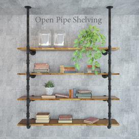 Open Pipe Shelving 3d model Download  Buy 3dbrute