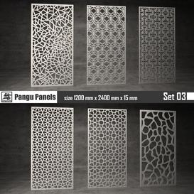 Pangu Panels Set 03 3d model Download  Buy 3dbrute